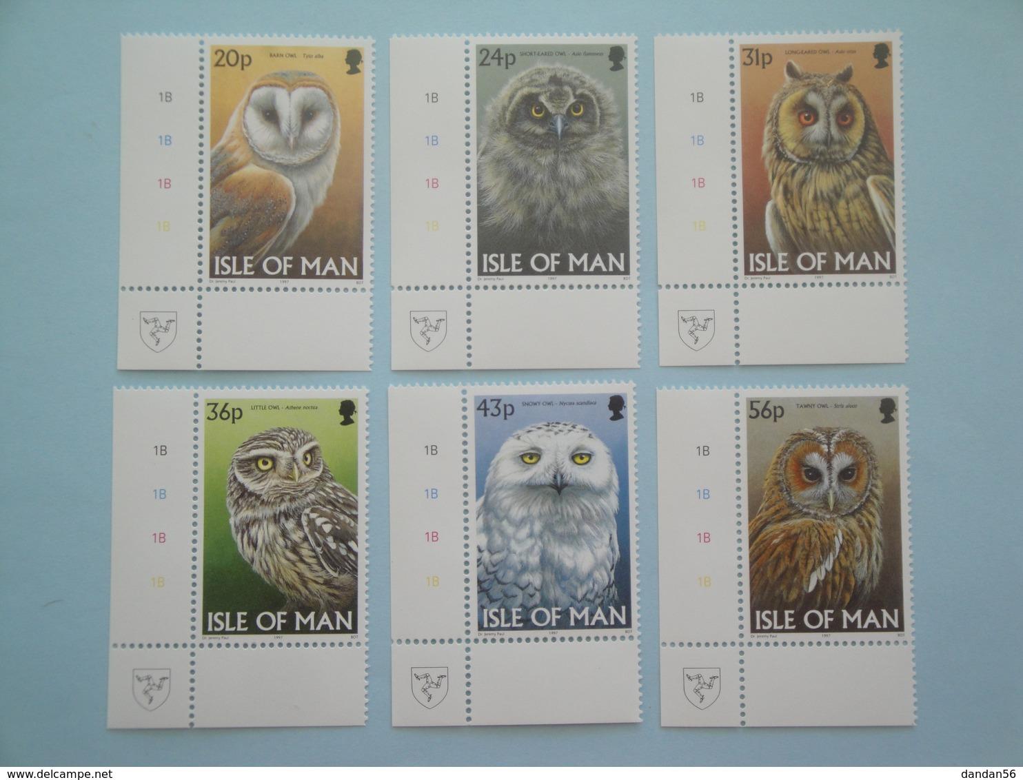 1997 Man Oiseaux Birds Yv 747/52 ** Scott 727/32 Michel  709/14  SG 734/9 - Oiseaux