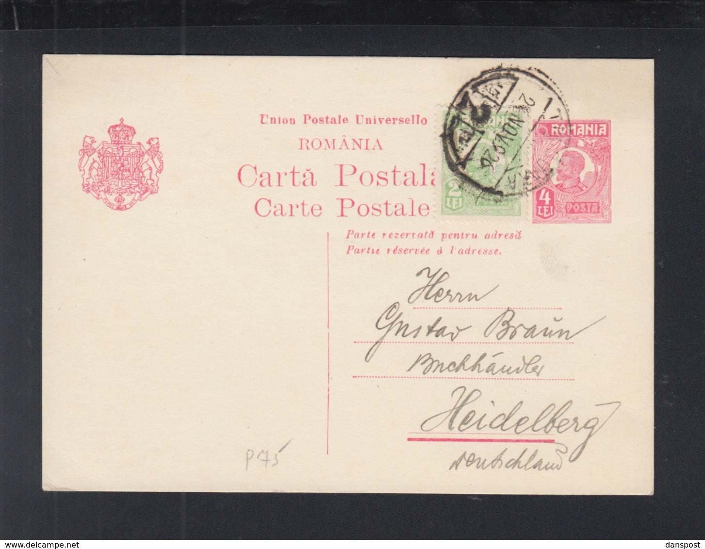 Romania Stationery 1926 Timisoara To Heidelberg - Interi Postali