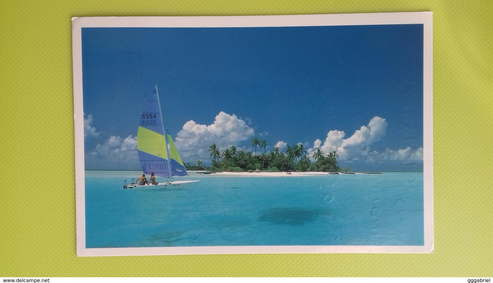 Cartolina MALDIVE - ...a Holiday Makers Dream - Viaggiata - Postcard - Un Sogno Per I Turisti - Maldive