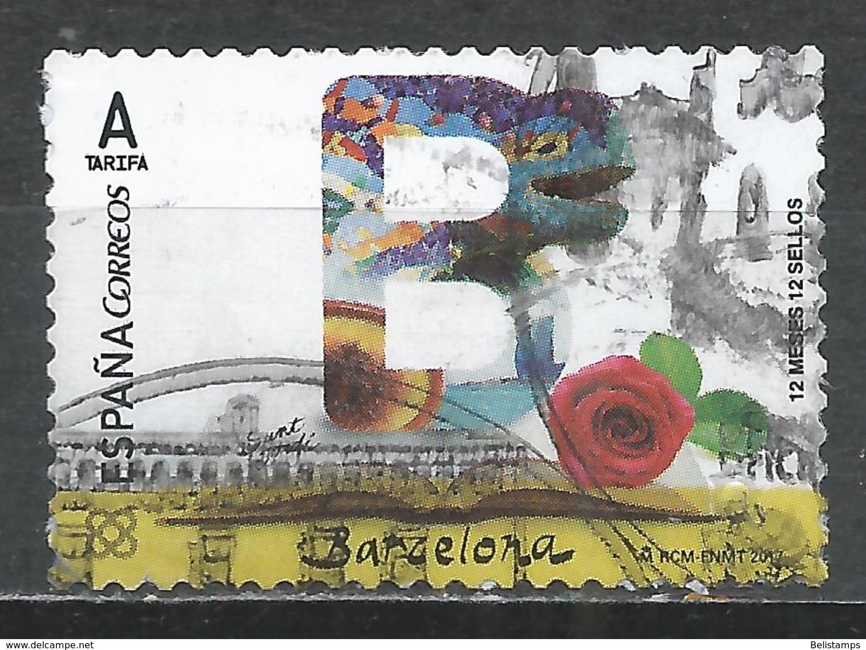 Spain 2017. Scott #4165 (U) Abbreviation Of Province, ''B'' (Barcelona) * - 1931-Aujourd'hui: II. République - ....Juan Carlos I