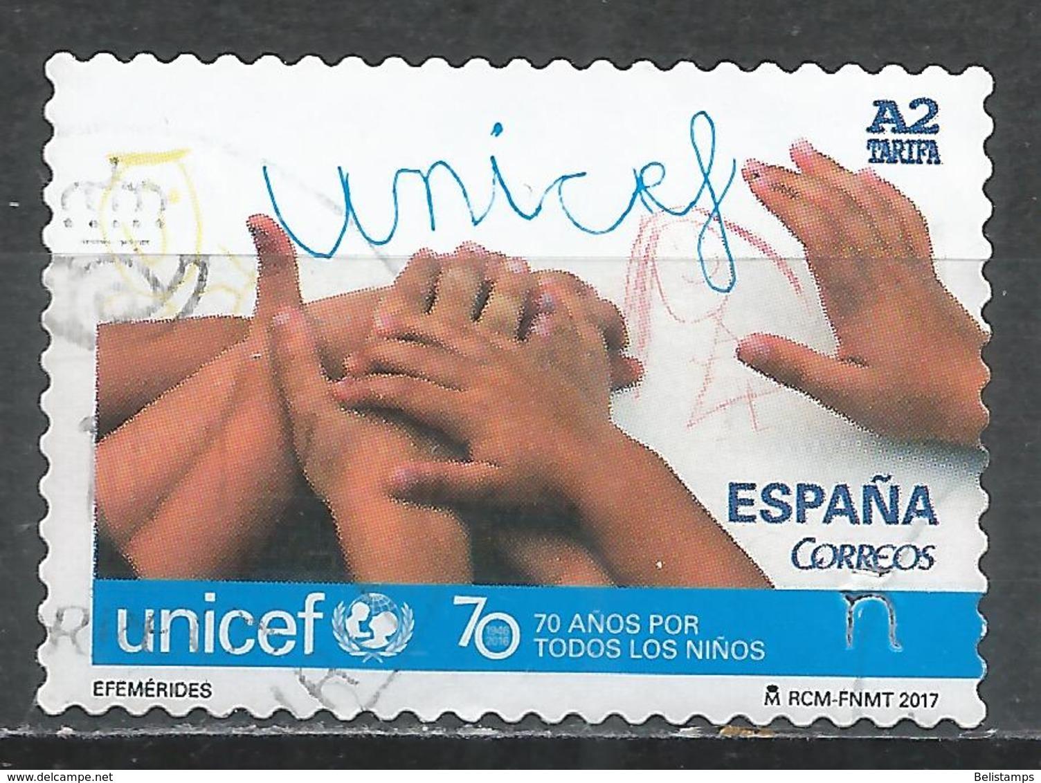Spain 2017. Scott #4209 (U) UNICEF 70th Anniv. * - 2011-... Oblitérés