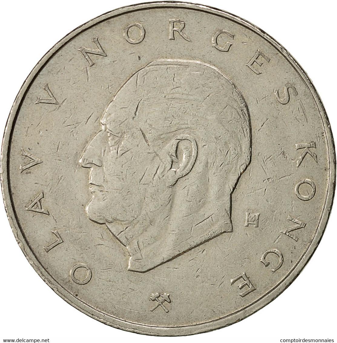 Norvège, Olav V, 5 Kroner, 1977, TTB, Copper-nickel, KM:420 - Norvège