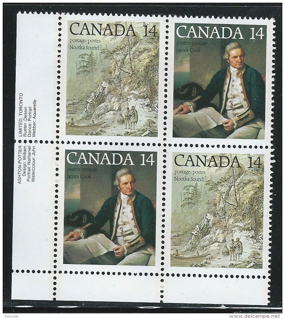 CANADA 1978 SCOTT 763-764** PLATE BLOCK LL - 1952-.... Elizabeth II
