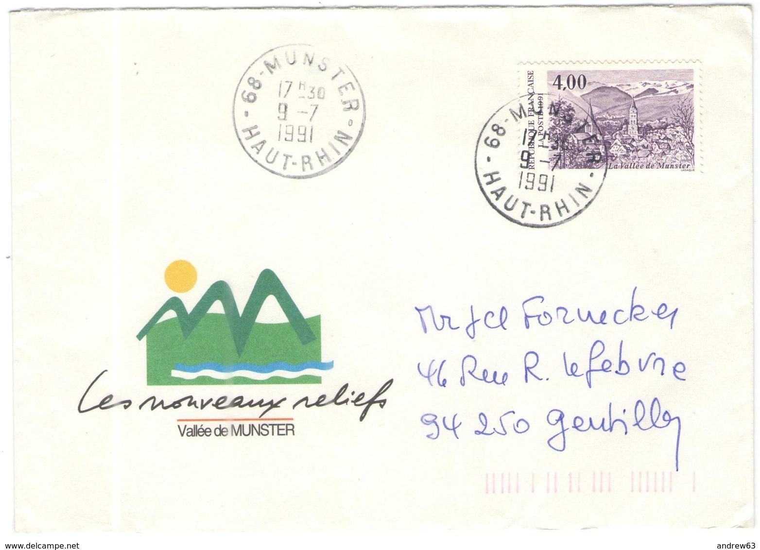 FRANCIA - France - 1991 - 4,00 La Vallée De Munster - Seul - Les Nouveaux Reliefs - Viaggiata Da Munster Per Gentilly - Storia Postale