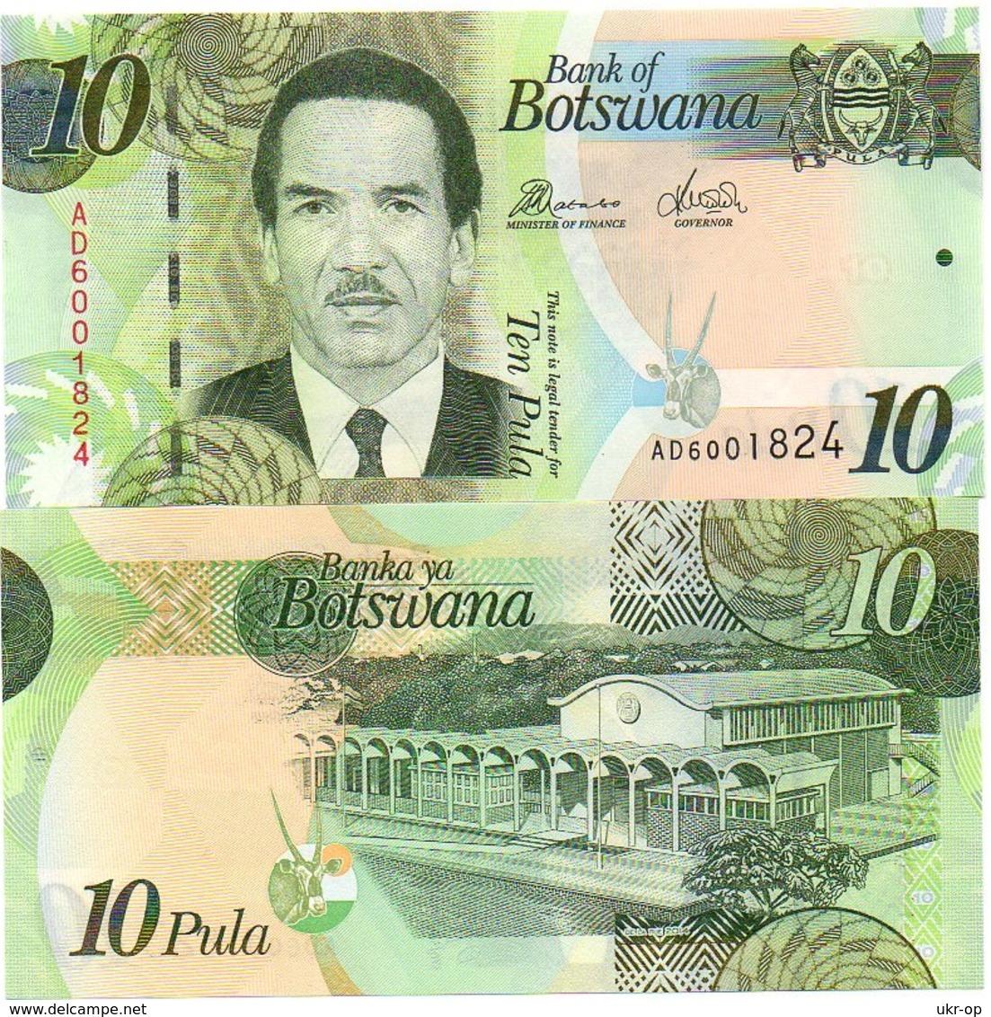 Botswana - 10 Pula 2014 UNC Paper Ukr-OP - Botswana