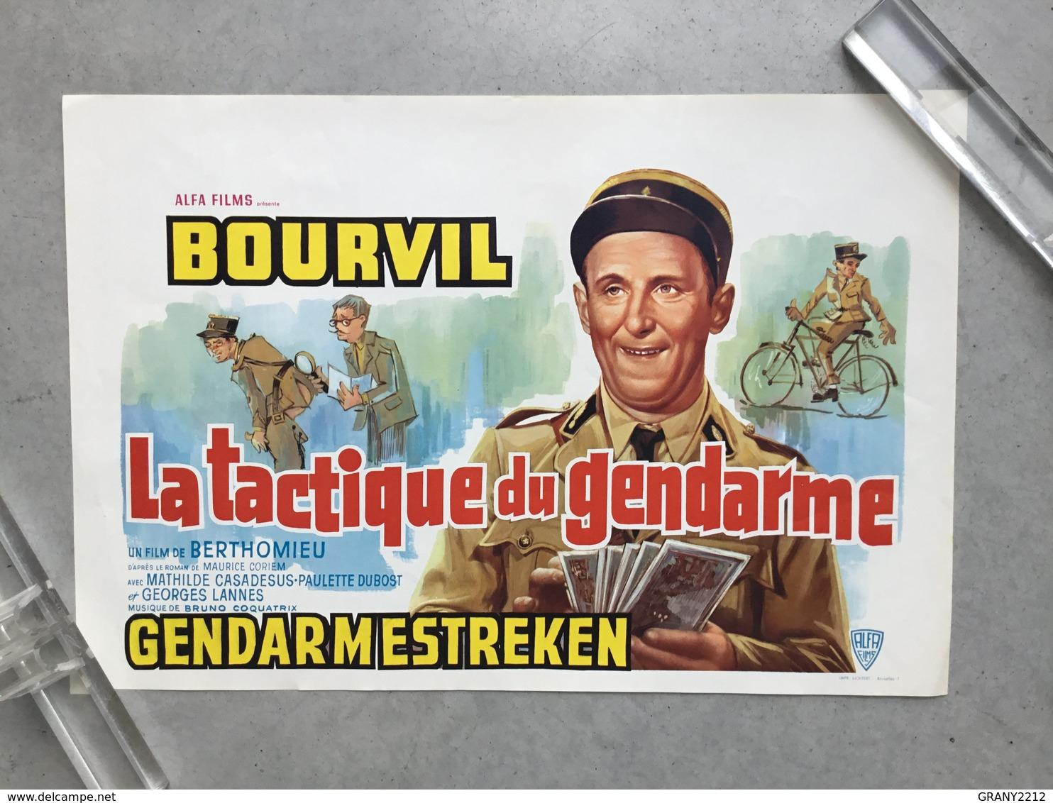 BOURVIL»LA TACTIQUE DU GENDARME «Un Film De BERTHOMIEU 1950 (Format 36,5 X 54 Cm) Très Bon état . - Posters