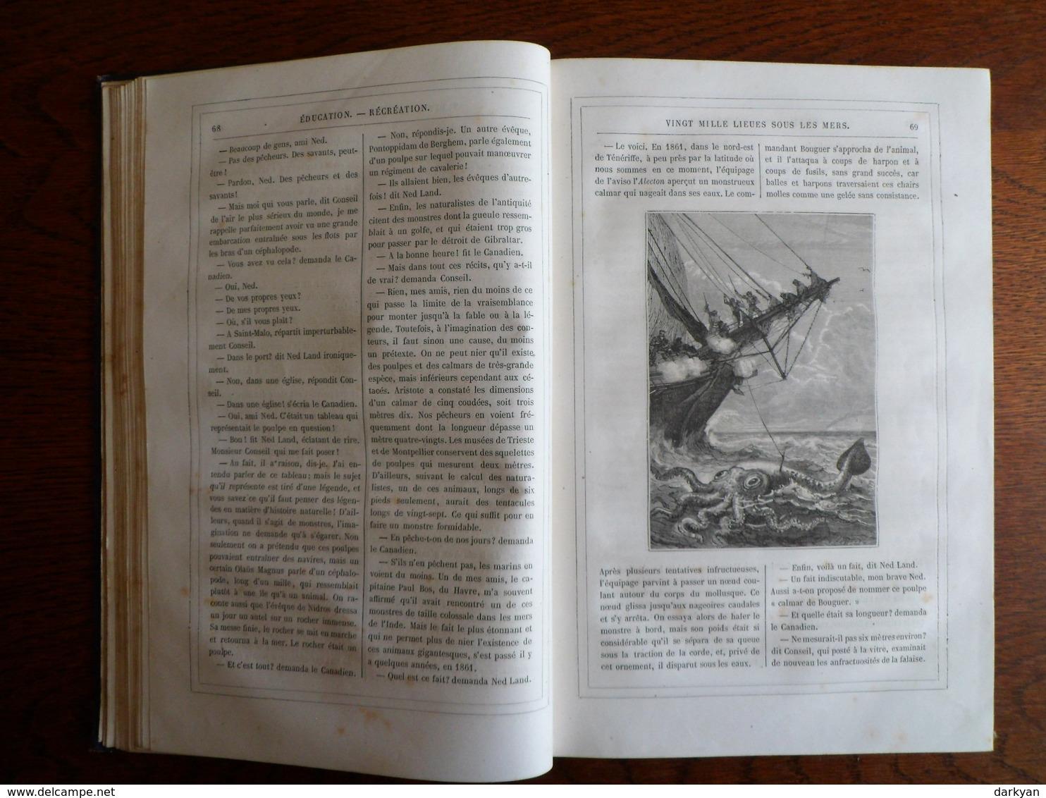 Jules Verne, Stahl - Magasin D'éducation Et De Récréation Volume XIII - Hetzel 1870 édition Luxe. - Livres, BD, Revues