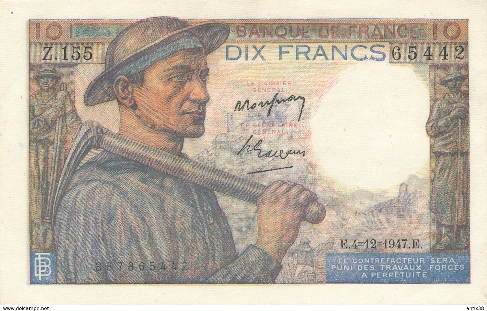 H139 - Billet 20 Francs Type Mineur 1947 - 10 F 1941-1949 ''Mineur''