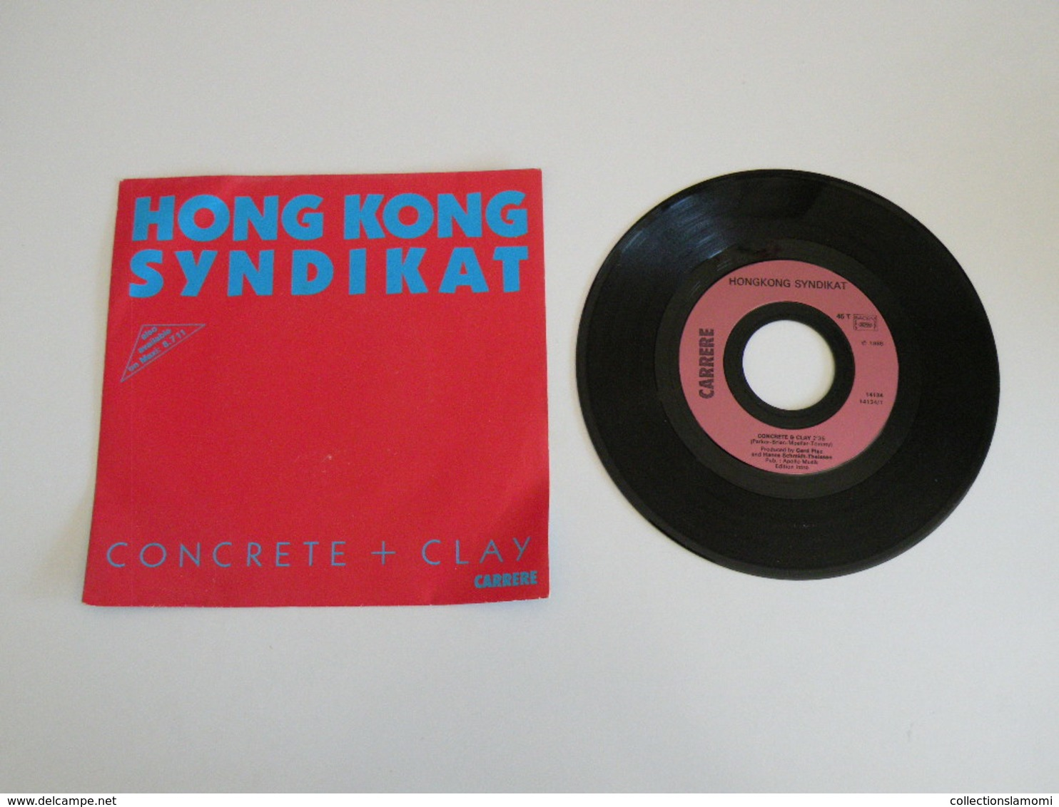 Hongkong Syndikat - Concret & Clay - Loosin Winnin (1986) - (Vinyle 45 T) Carrère - Disco, Pop