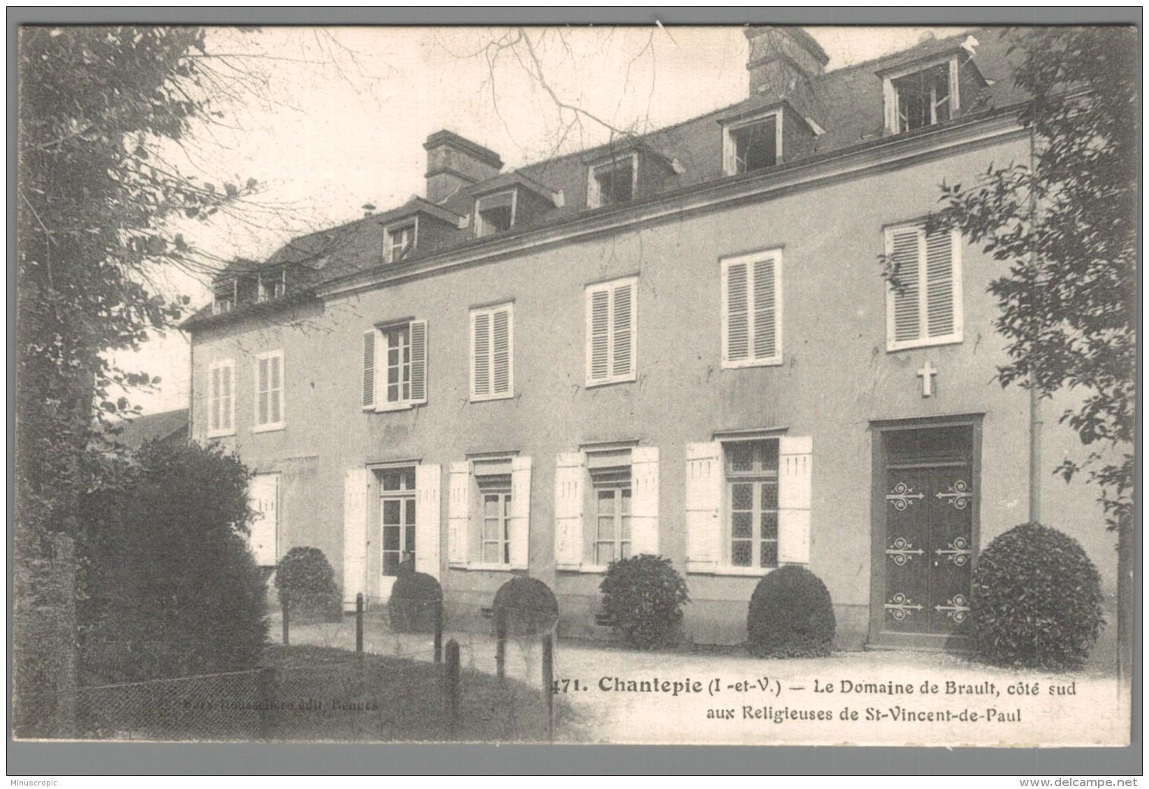 CPA 35 - Chantepie - Le Domaine De Brault Coté Sud Aux Religieuses De Saint Vincent De Paul - France