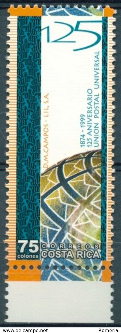 Costa Rica - 1999 - Yt 659 - 125 Ans De L'U.P.U. - ** - Costa Rica
