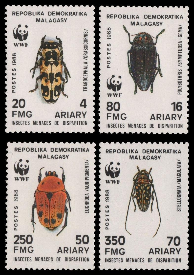Madagaskar 1988 - Mi-Nr. 1157-1160 ** - MNH - Insekten / Insects - Madagascar (1960-...)