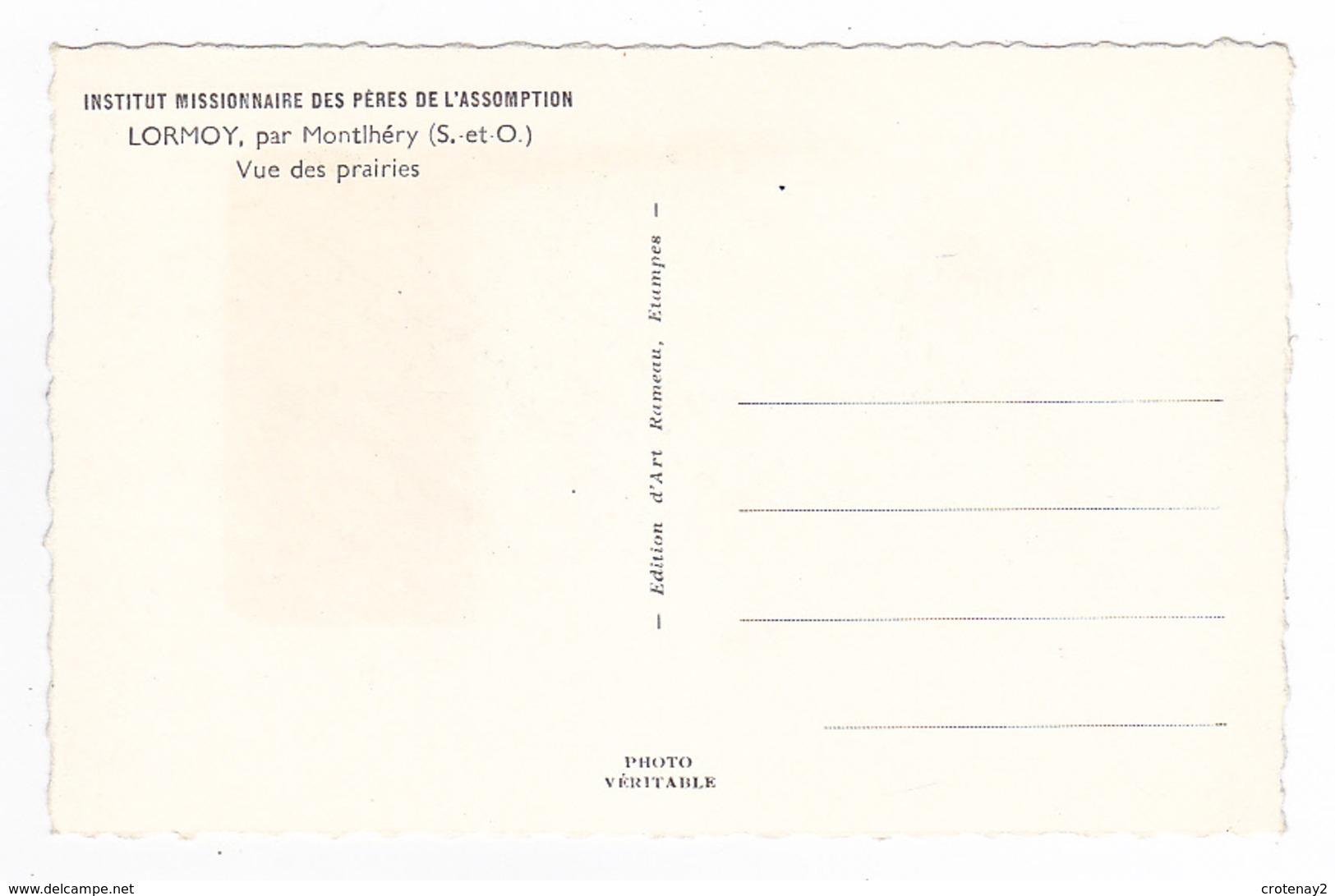 91 LORMOY Par Montlhéry Institut Missionnaire Des Pères De L'Assomption Vue Des Prairies Beau Troupeau De Vaches - Montlhery