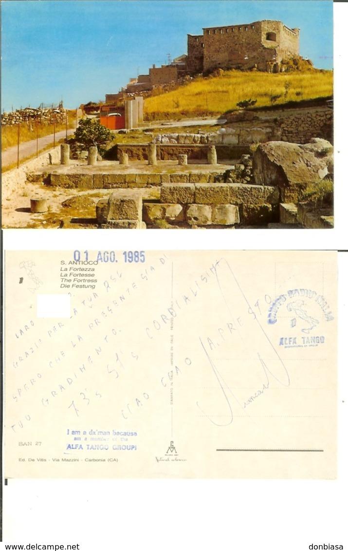 S. Antioco (Carbonia - Iglesias): La Fortezza. Cartolina Radioamatore Anni '80 - Carbonia