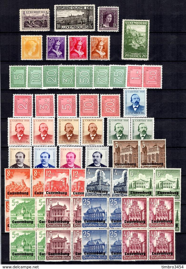 Luxembourg Belle Petite Collection Neufs ** MNH 1914/1950. Bonnes Valeurs. TB. A Saisir! - Collections