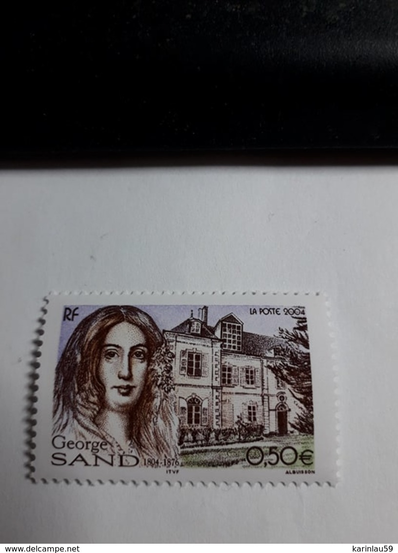 """Timbres France YT 3645 """" George Sand """" 2004 Neuf - France"""