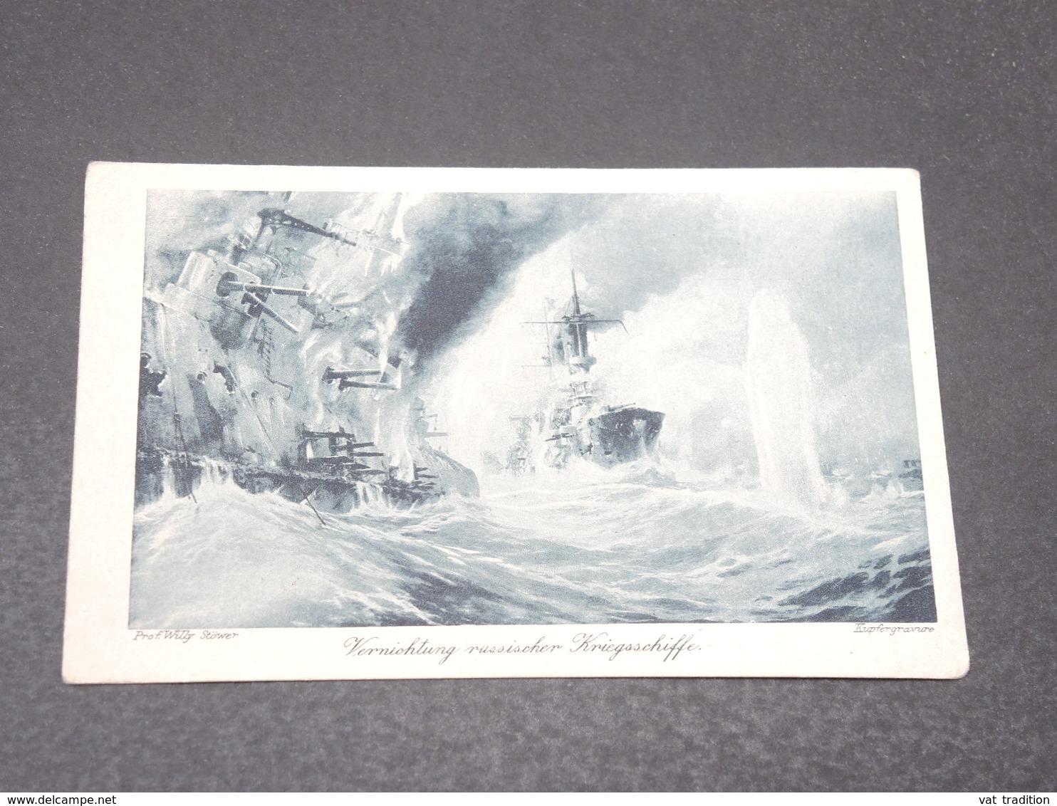 ALLEMAGNE - Wohlfahrts Karte , Marine En 1916 Pour L 'Alsace - L 17034 - Germania