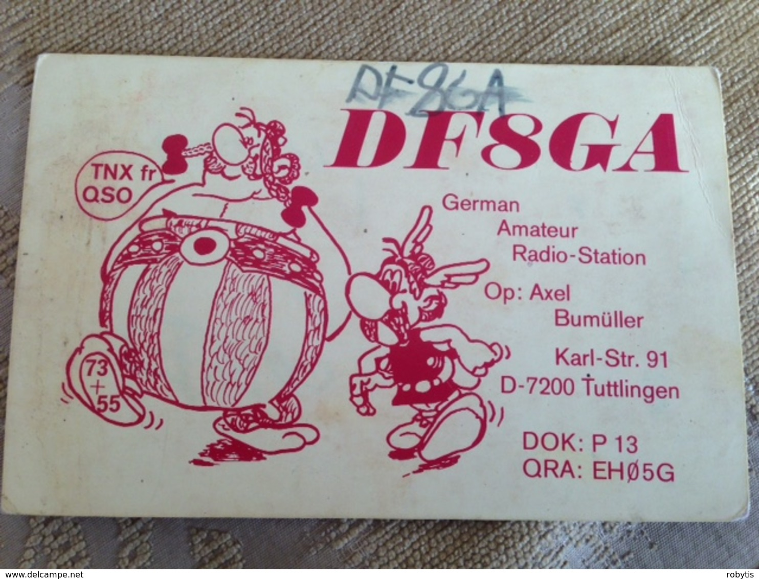 Germany  Amateur Radio Station Card   1977 Asterix And Obelix - Autres