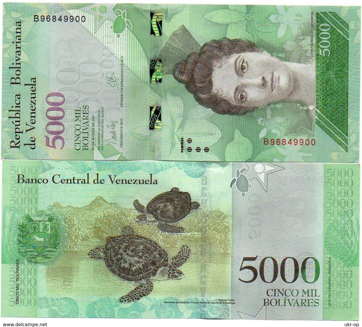Venezuela - 5000 Bolivares 2017 UNC Ukr-OP - Venezuela