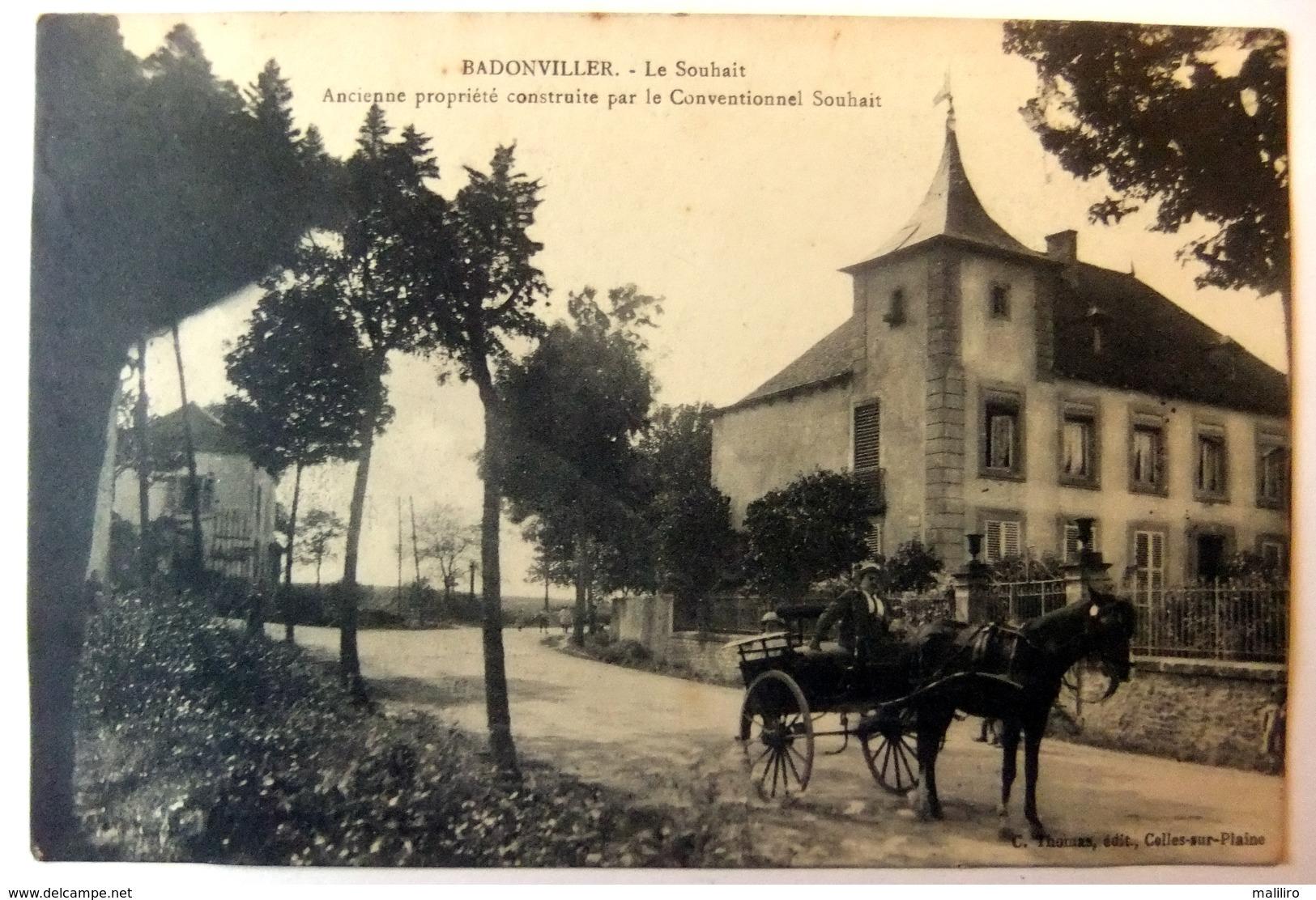 Badonviller - Le Souhait - Ancienne Propriété Construite Par Le Conventionnel Souhait - France