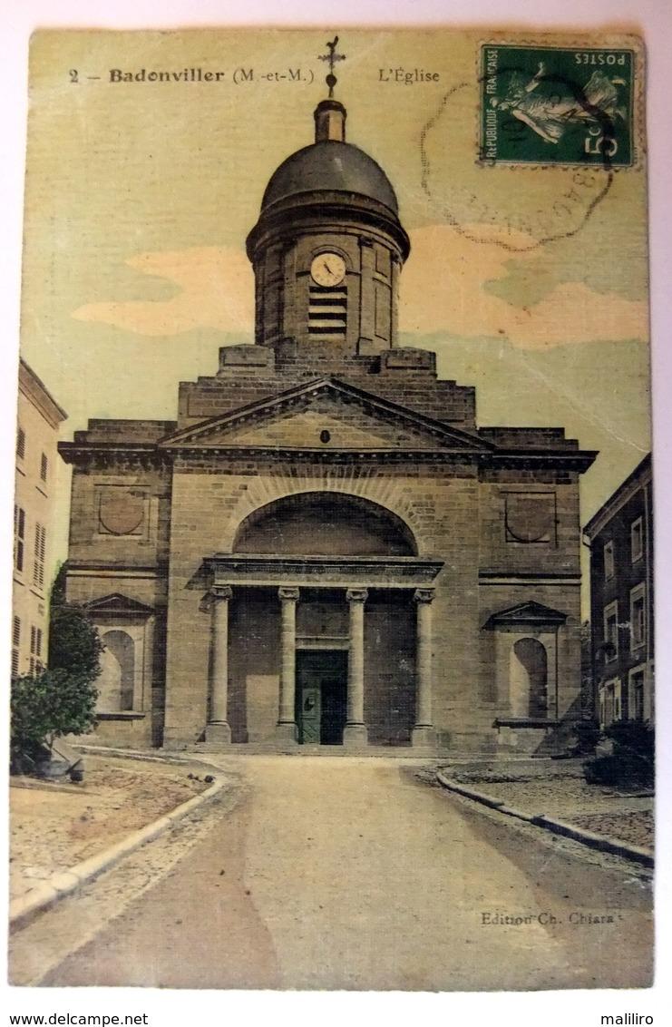 Badonviller - L'Eglise - Carte Colorisée - France