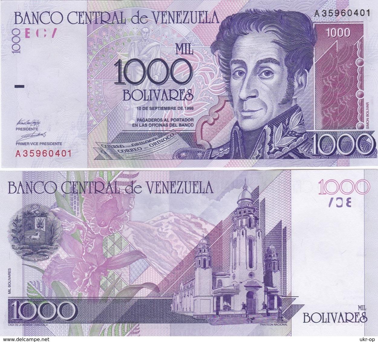 Venezuela - 1000 Bolivares 10.09. 1998 UNC Ukr-OP - Venezuela