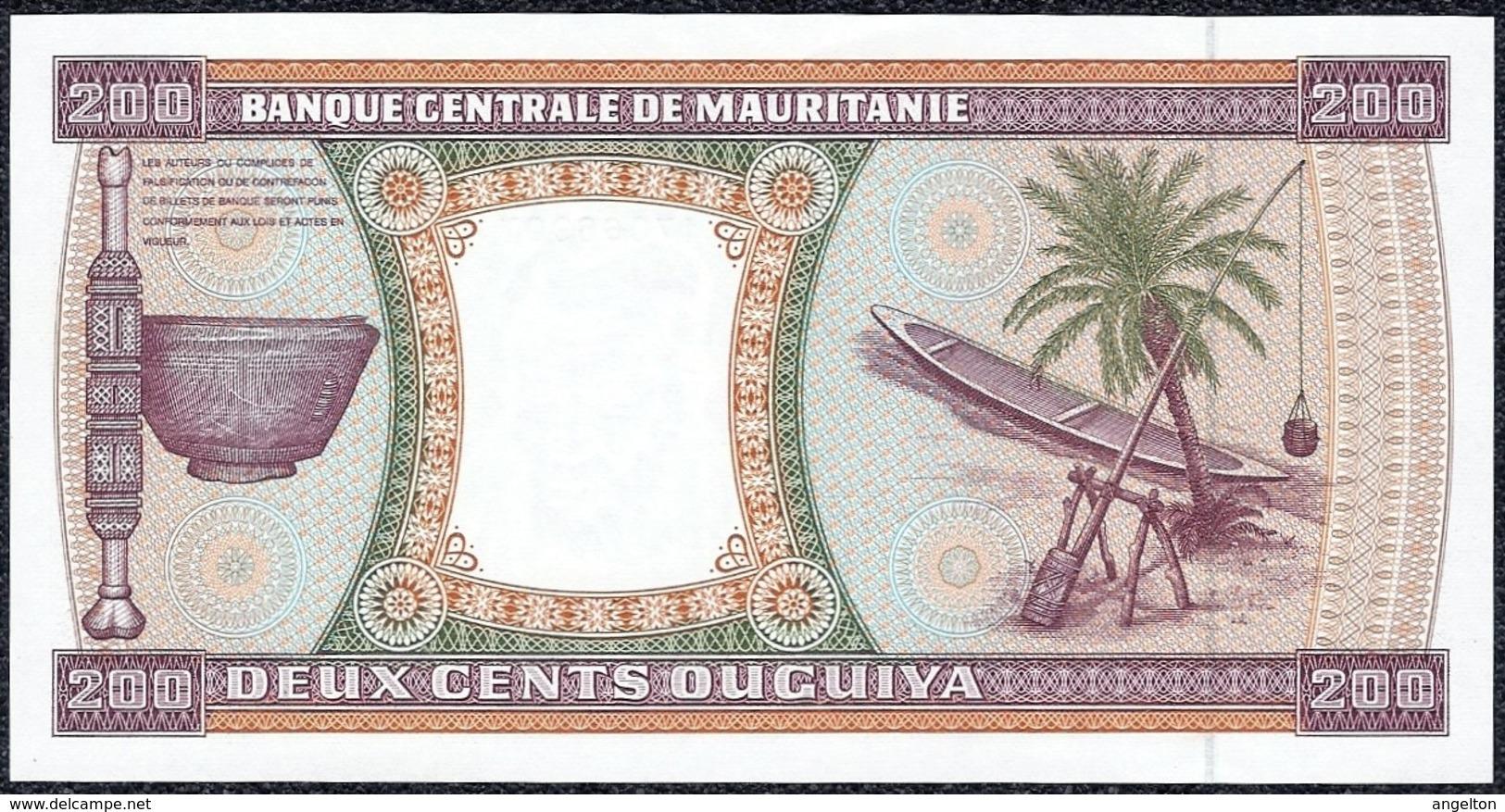 Mauritania 200 Ouguiya 1989 *UNC* Banknote - Mauritania