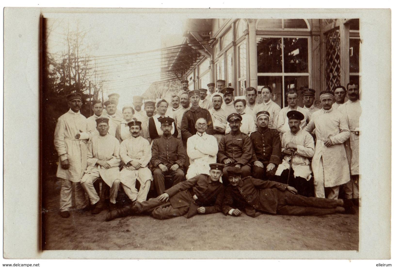 MILITARIA.CARTE PHOTO.GDANSK. DANZIG. OLIVA.CACHET HOPITAL AUXILIAIRE. STEMPEL LAZARETT. - Guerre 1914-18
