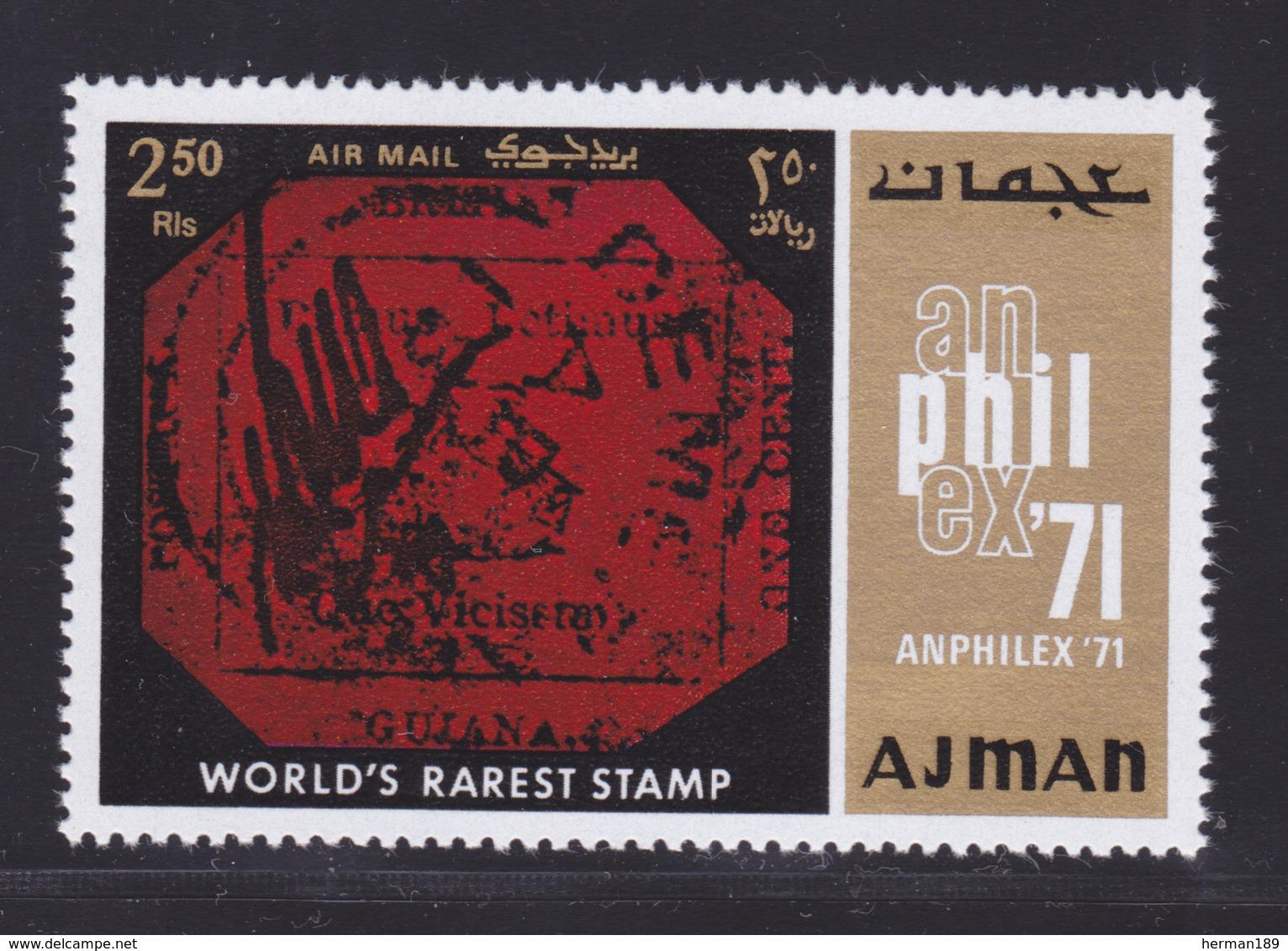 AJMAN AERIENS N°  123 ** MNH Neufs Sans Charnière, TB (D7166) Amphilex 71, Exposition Philatélique - Ajman