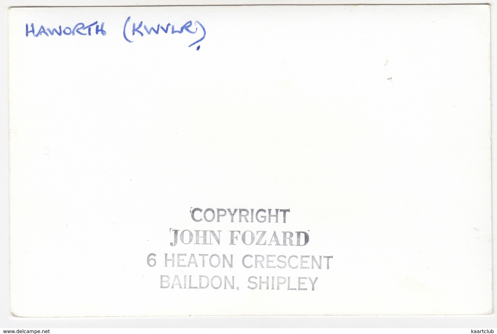 Haworth (KWVLR)  - Steamlocomotive 752 - KEIGHLEY And WORTH VALLEY RAILWAY - Trenes
