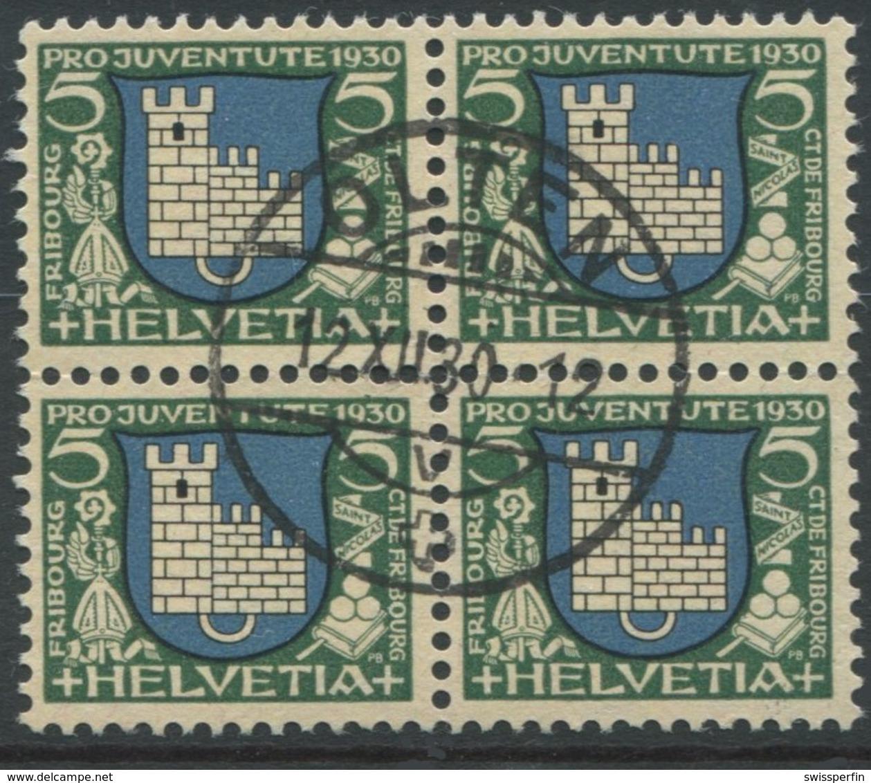 1813 - 5 Rp. Fribourg Mit Zentrumstempel Stempel OLTEN 12.XII.30 - Pro Juventute
