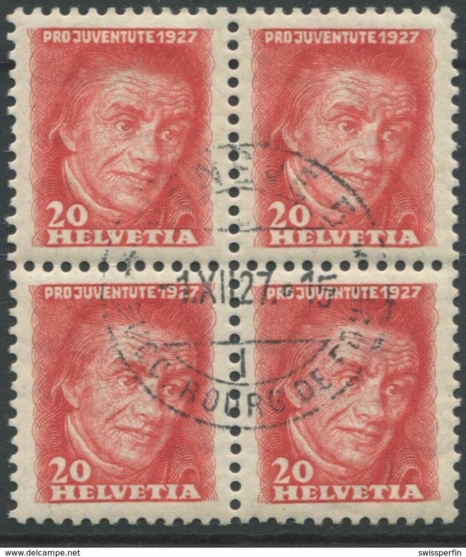 1814 - 20 Rp. Pestalozzi Mit Ersttag-Zentrumstempel GENÈVE -1.XII.27 - Pro Juventute