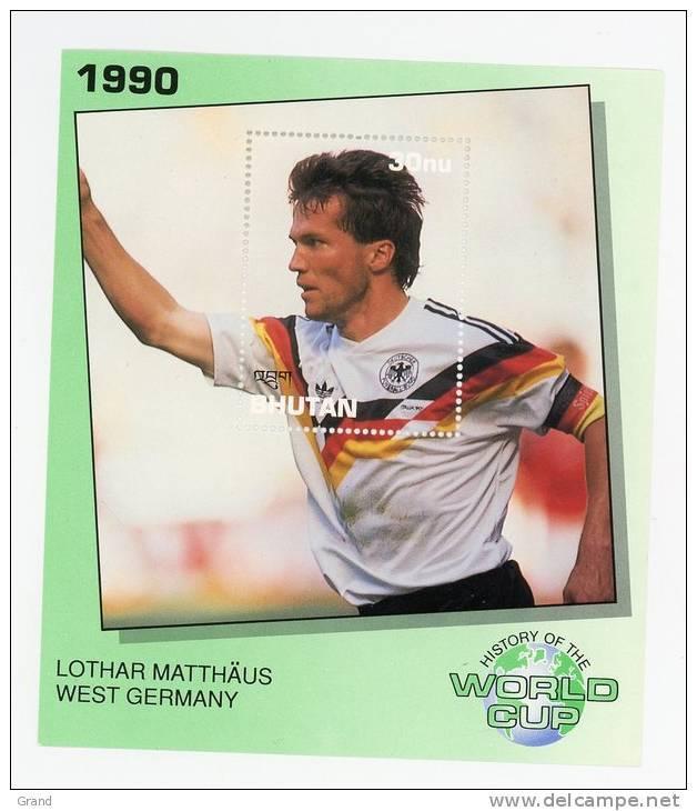 Bhutan-1990-LOTHAR MATTHAUS-Histoire De La Coupe Du Monde-bloc***MNH - Wereldkampioenschap