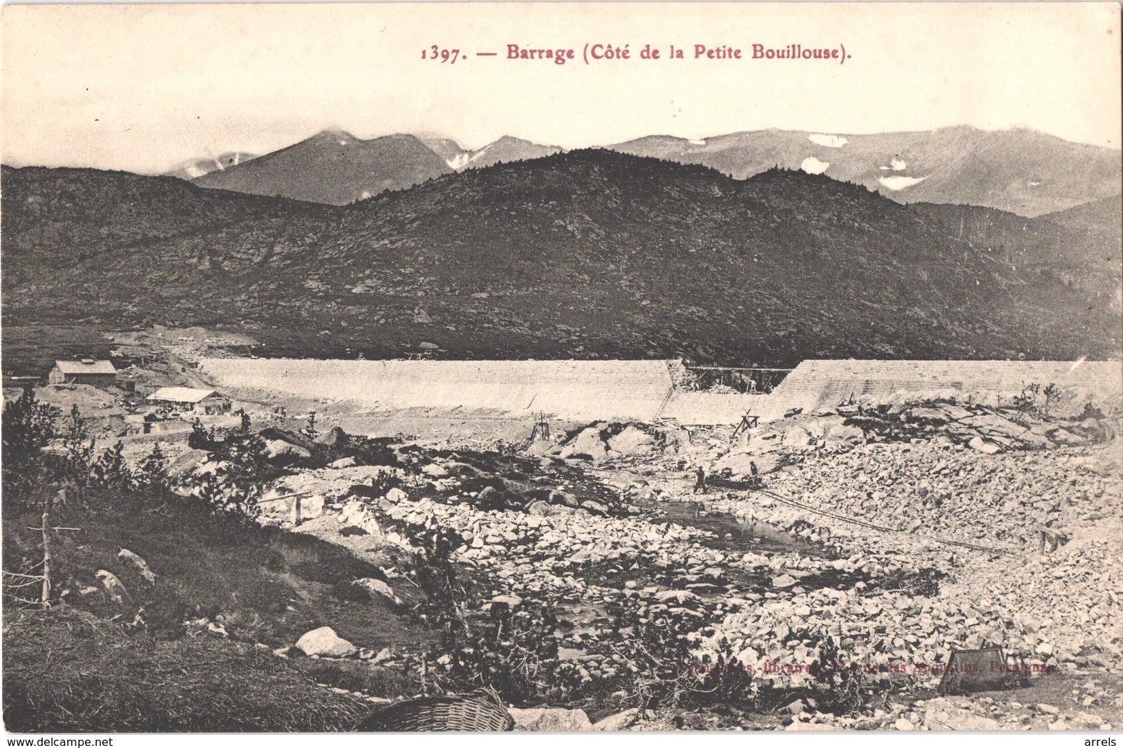 FR66 LES BOUILLOUSES - Brun 1397 - Le Barrage En Construction - Maison Des Ouvriers - Belle - Autres Communes