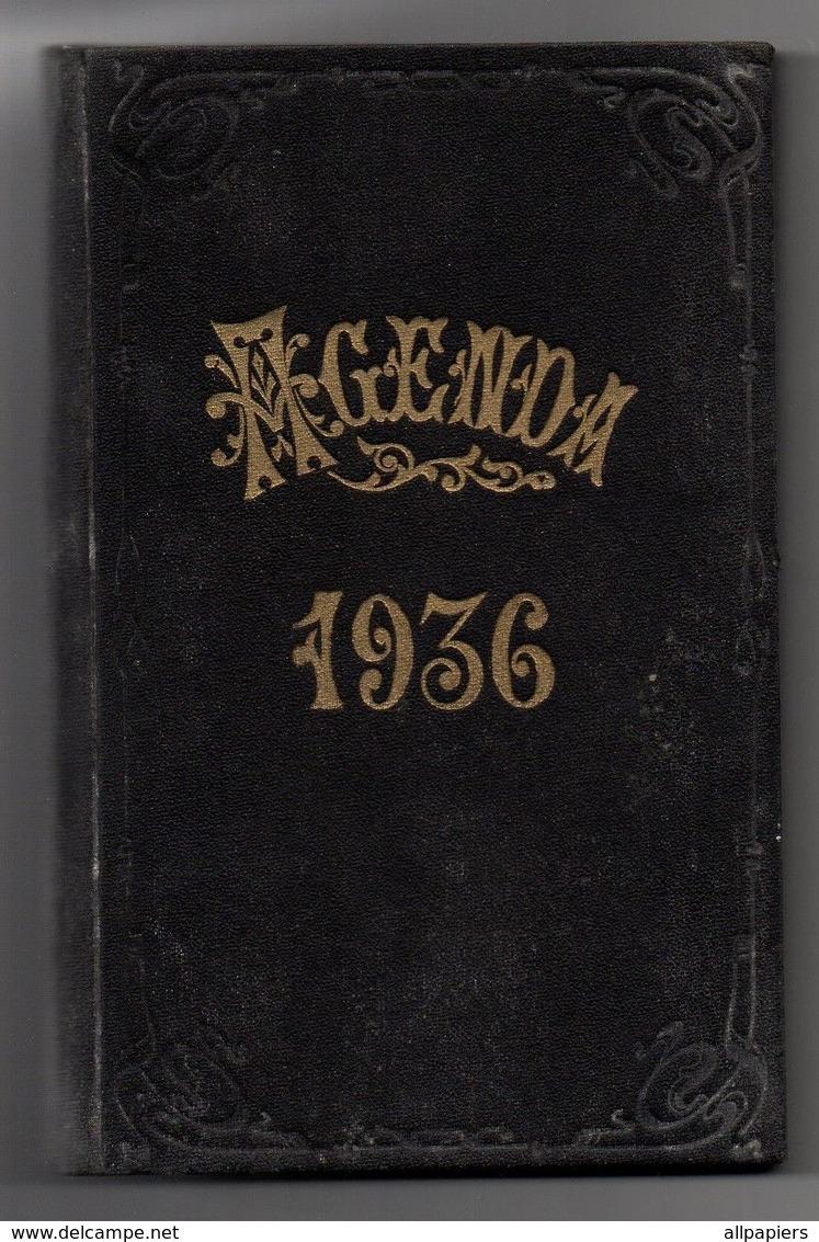 Agenda De Bureau Vierge De 1936 - Calendriers
