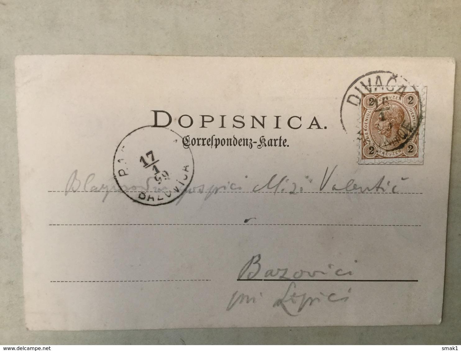 AK  SLOVENIA  DIVAČA   DIVACA  1899. - Slovenia