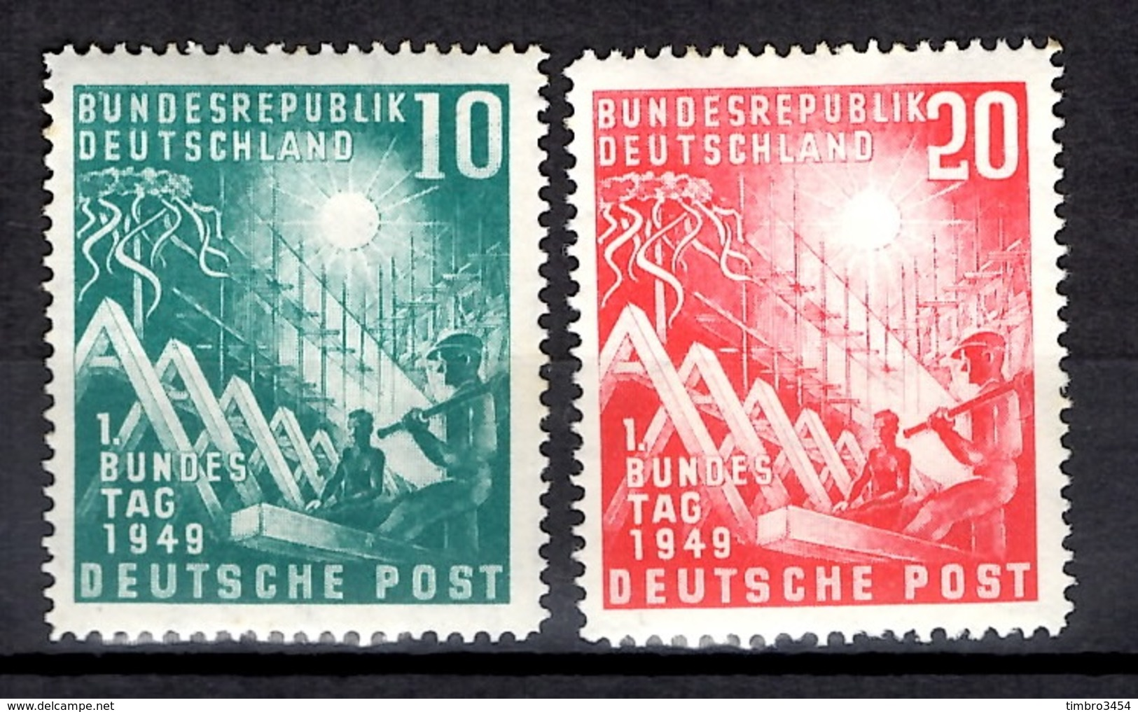 Allemagne/RFA YT N° 1/2 Neufs ** MNH. TB. A Saisir! - [7] Federal Republic