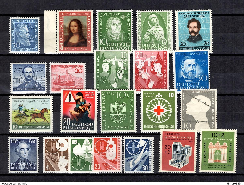Allemagne/RFA Belle Collection Neufs ** MNH 1951/1953. Bonnes Valeurs. TB. A Saisir! - [7] Federal Republic