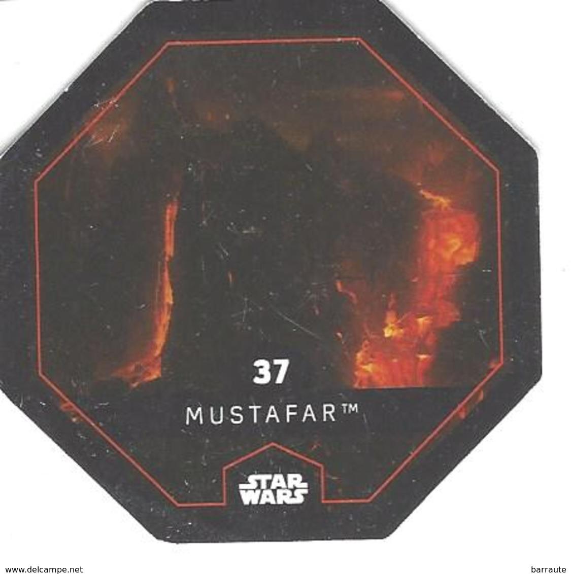 JETON LECLERC STAR WARS   N° 37  MUSTAFAR - Power Of The Force