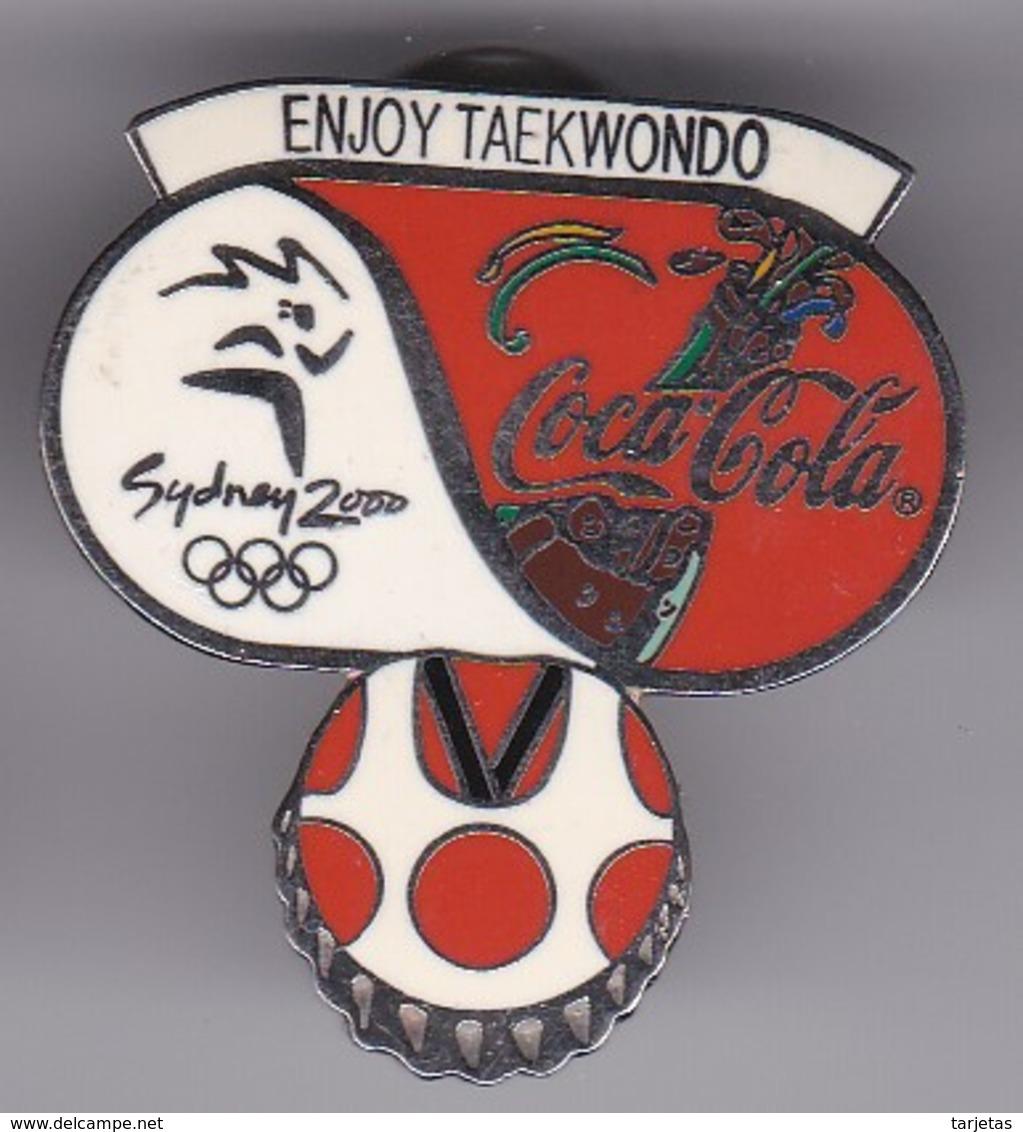 PIN DE COCA-COLA DE LAS OLIMPIADAS DE SYDNEY 2000 - ENJOY TAEKWONDO (COKE) OLYMPIC GAMES - Coca-Cola