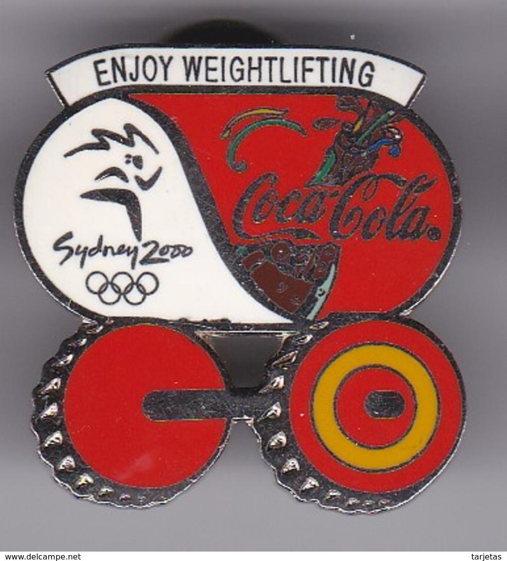 PIN DE COCA-COLA DE LAS OLIMPIADAS DE SYDNEY 2000 - ENJOY WEIGHTLIFTING - PESAS (COKE) OLYMPIC GAMES - Coca-Cola