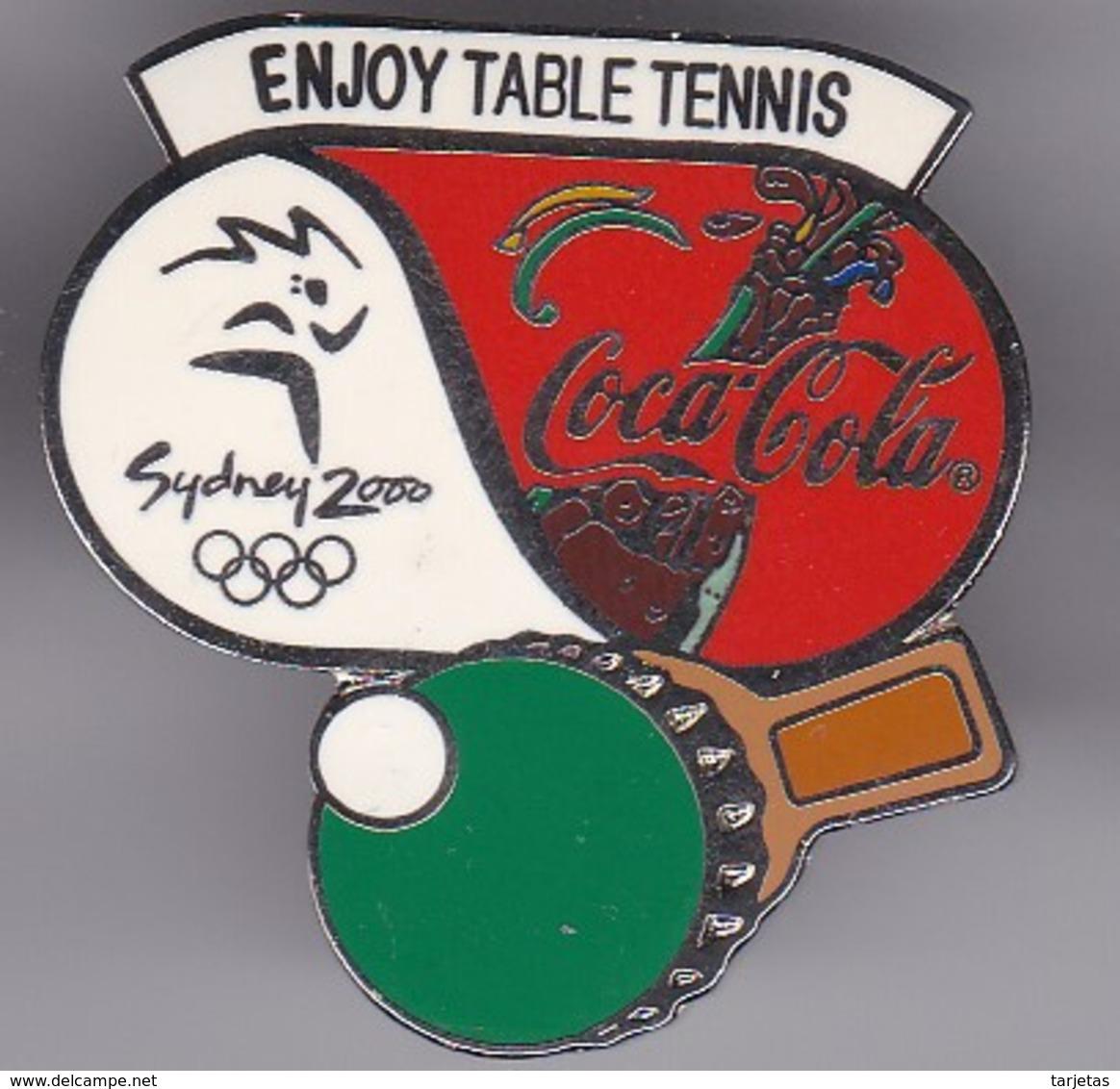 PIN DE COCA-COLA DE LAS OLIMPIADAS DE SYDNEY 2000 - ENJOY TABLE TENNIS - PINPON (COKE) OLYMPIC GAMES - Coca-Cola