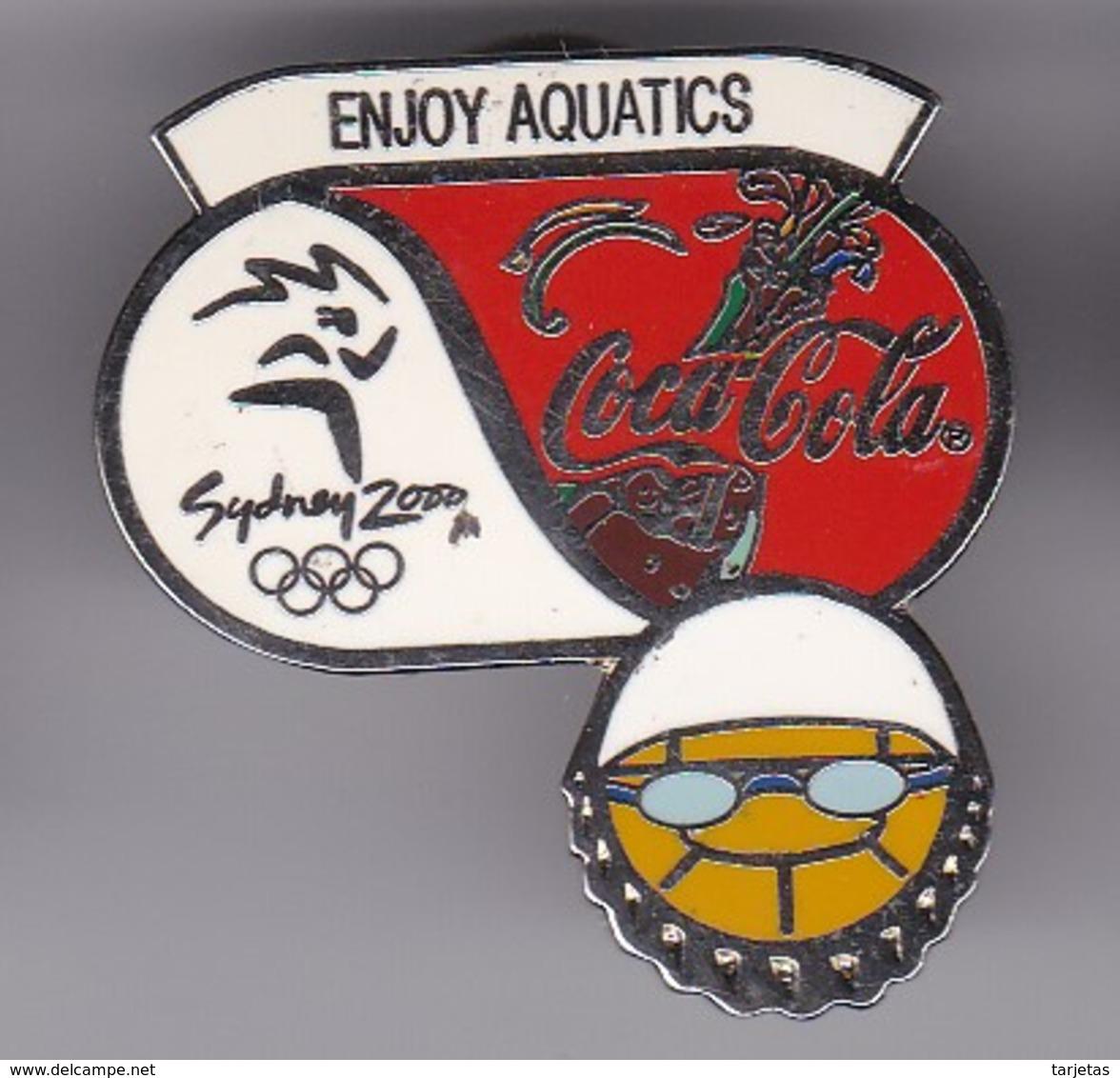 PIN DE COCA-COLA DE LAS OLIMPIADAS DE SYDNEY 2000 - ENJOY AQUATICS - NATACION (COKE) OLYMPIC GAMES - Coca-Cola
