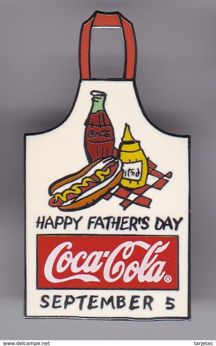 PIN DE COCA-COLA DE UN DELANTAL HAPPY FATHER'S DAY (COKE) - Coca-Cola