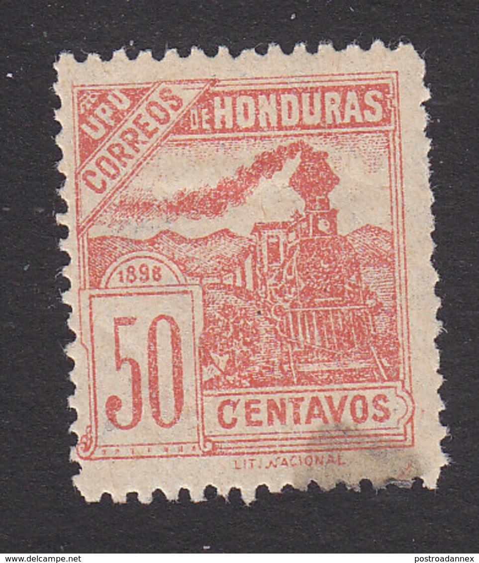 Honduras, Scott #109, Mint Hinged, Train, Issued 1898 - Honduras