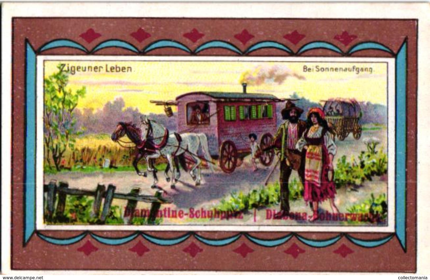 6 Chromo Zigeunerleven Gitan Tzigane Gypsy Pub.Diamantine  Schuputz - Vieux Papiers