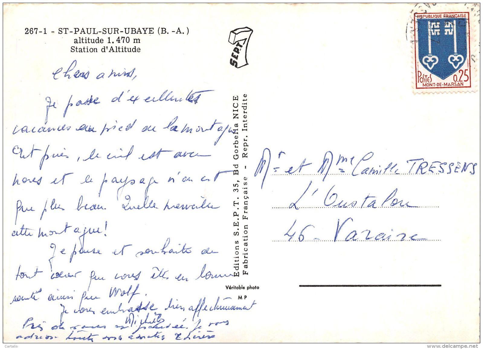 4-SAINT PAUL SUR UBAYE-N°C-3662-C/0103 - France
