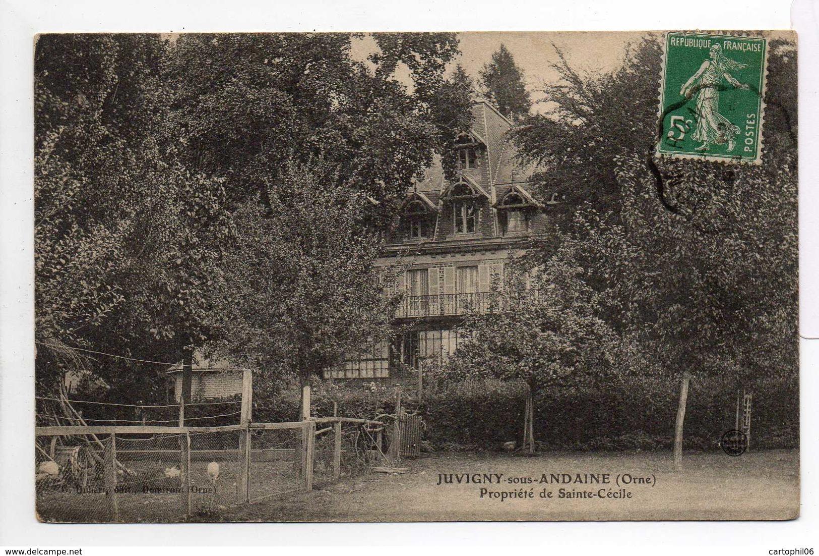 - CPA JUVIGNY-SOUS-ANDAINE (61) - Propriété De Sainte-Cécile 1913 - Edition Hubert - - Juvigny Sous Andaine
