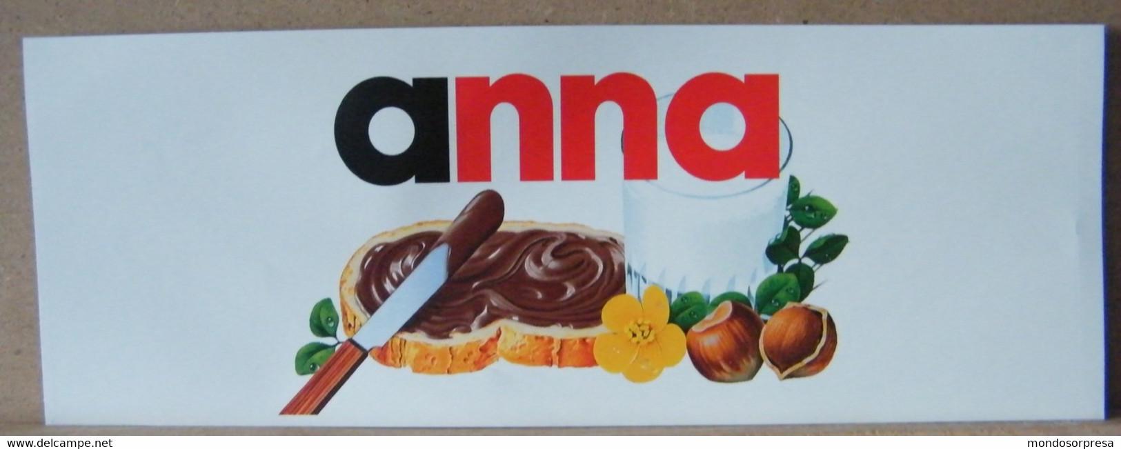 MONDOSORPRESA, ADESIVI NUTELLA NOMI, ANNA - Nutella