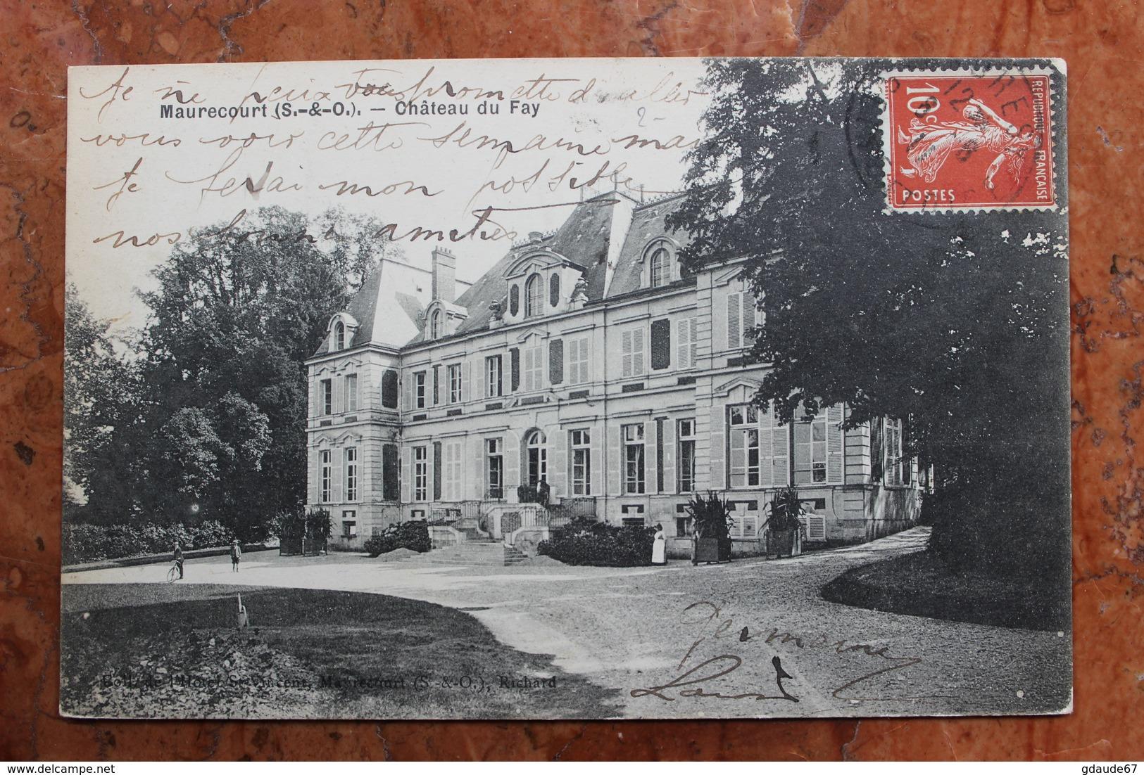MAURECOURT (78) - CHATEAU DU FAY - Maurecourt